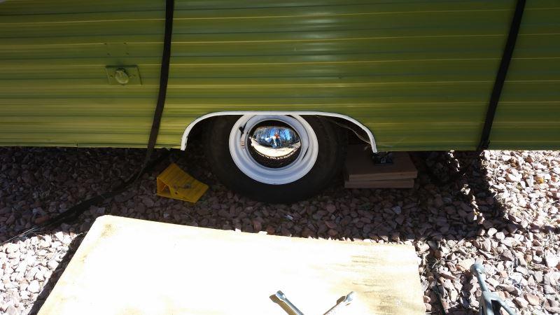 Americana Baby Moon Trailer Wheel Center Cap Chrome