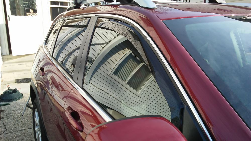2018 Jeep Cherokee Weathertech Side Window Air Deflectors