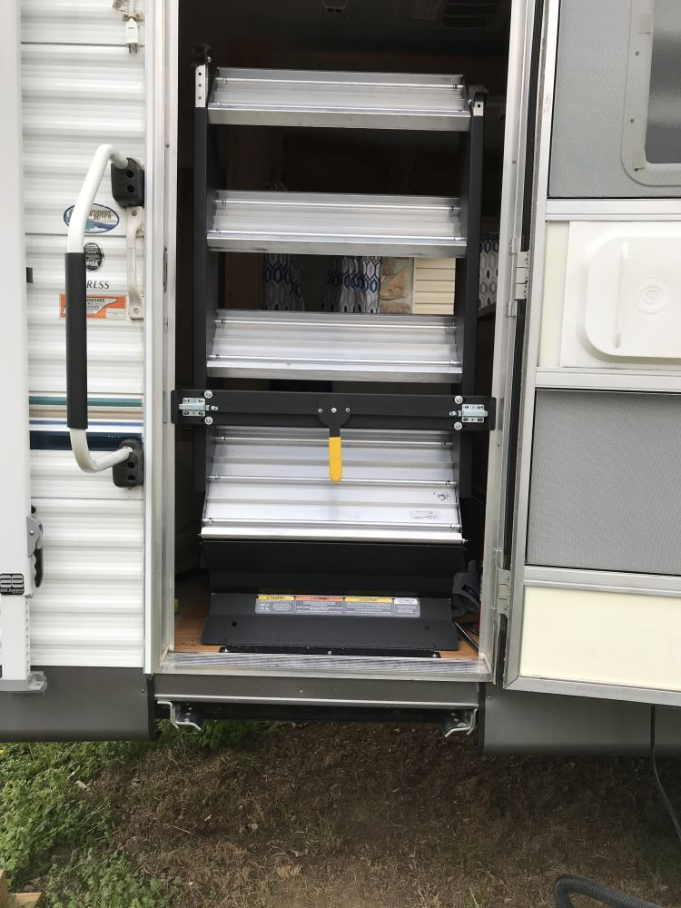 "Used Rv Prices >> SolidStep Manual Fold-Down Steps for 28"" - 30"" Wide RV Door Frames - Quadruple - Aluminum ..."