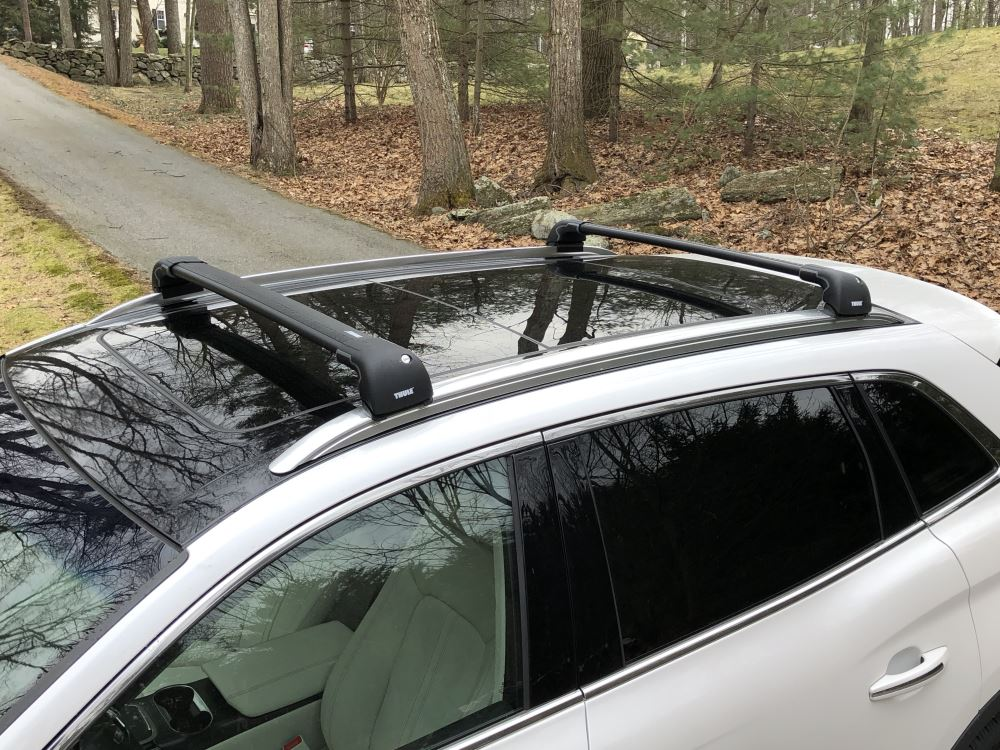NEW Hyundai Santa Fe SILVER Thule AeroBlade EDGE Roof Rack