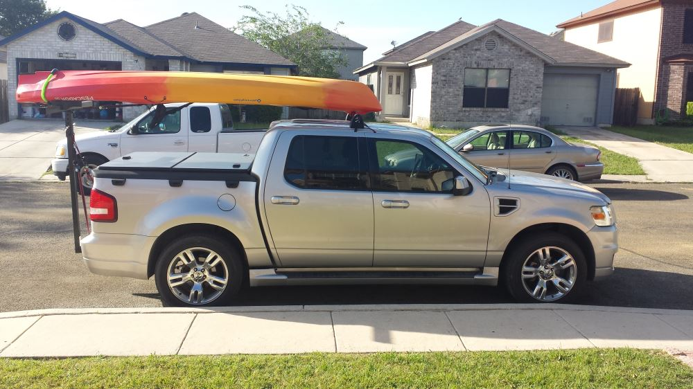 Kayak Racks For Pickup Trucks >> Darby Extend A Truck Kayak Carrier W Hitch Mounted Load