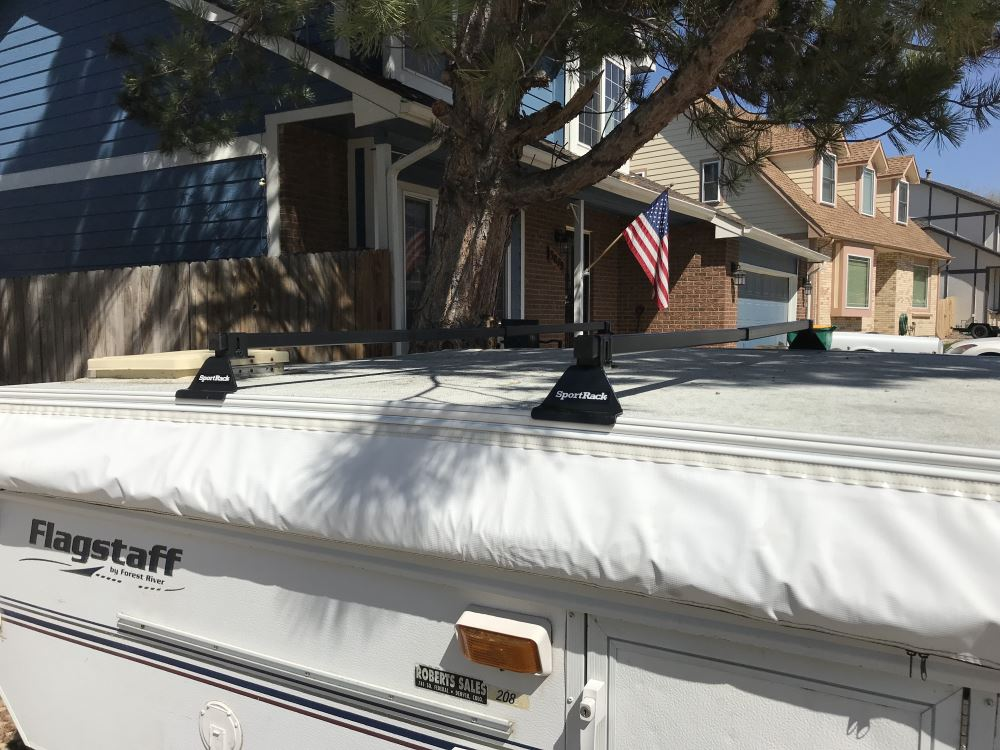 SportRack Pop-Up Camper Roof Rack - Square Crossbars - Steel