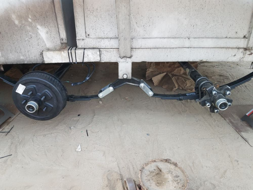 Never Fail Tandem Axle Suspension Upgrade Hardware Kit for