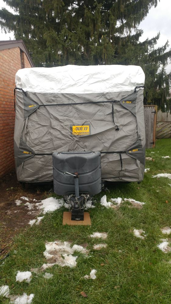 Adco Tyvek All-Climate + Wind RV Cover for Travel Trailer