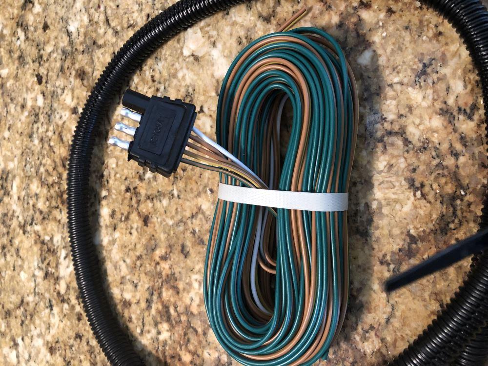 35 ft 4 way trailer wiring harness wishbone style 42  double split for trailer wiring harness ground #2