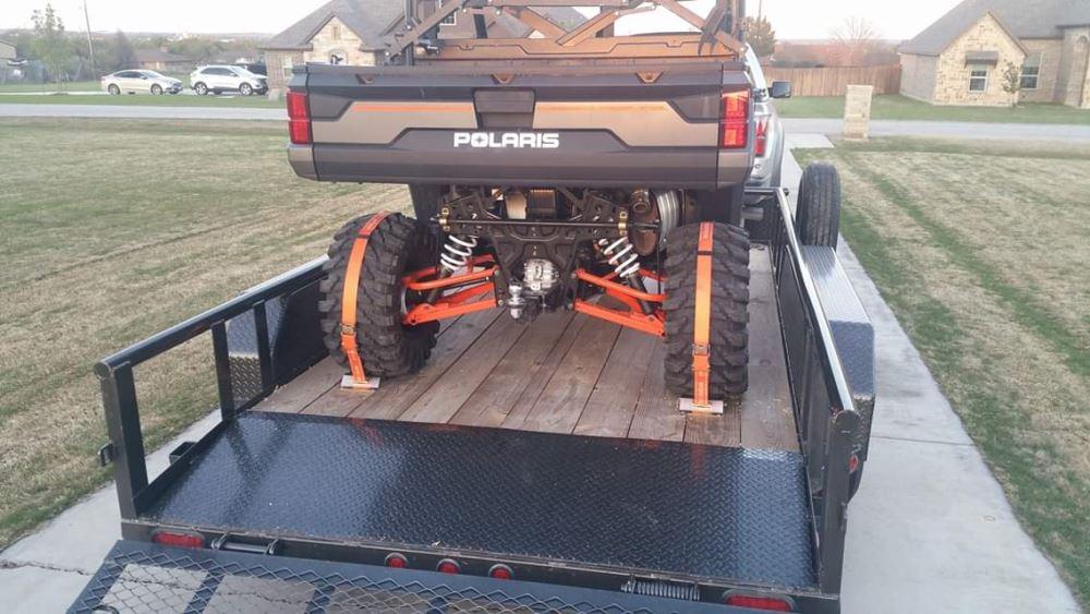 "Cargo Straps Tie Downs 2 1/"" x 3/' Camping Off Road Racing Truck Trailer Humvee"