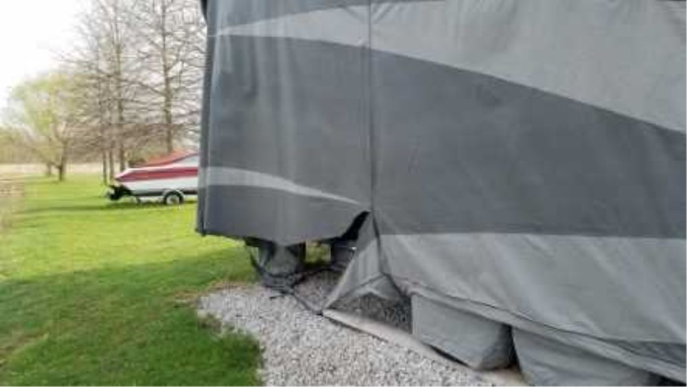 Adco Tyvek All-Climate + Wind RV Cover for 5th Wheel Toy