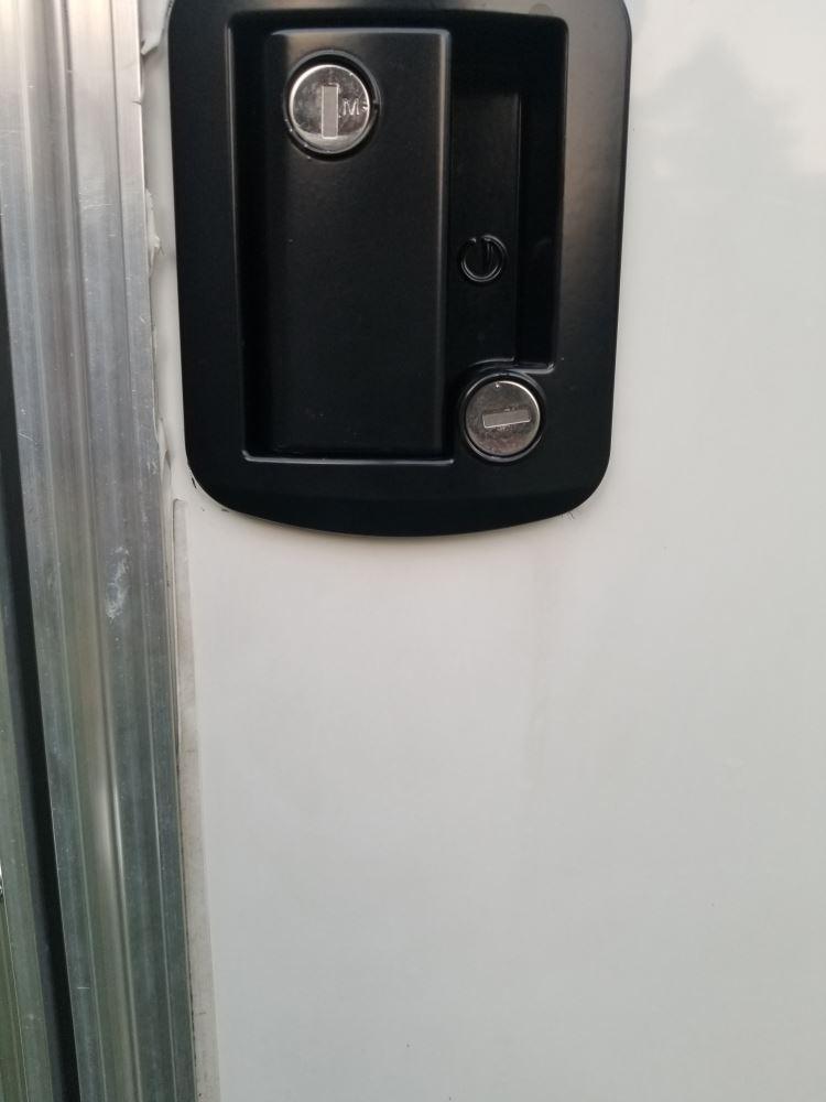 Global Link RV Entry Door Locking Latch Kit with Keyed Alike