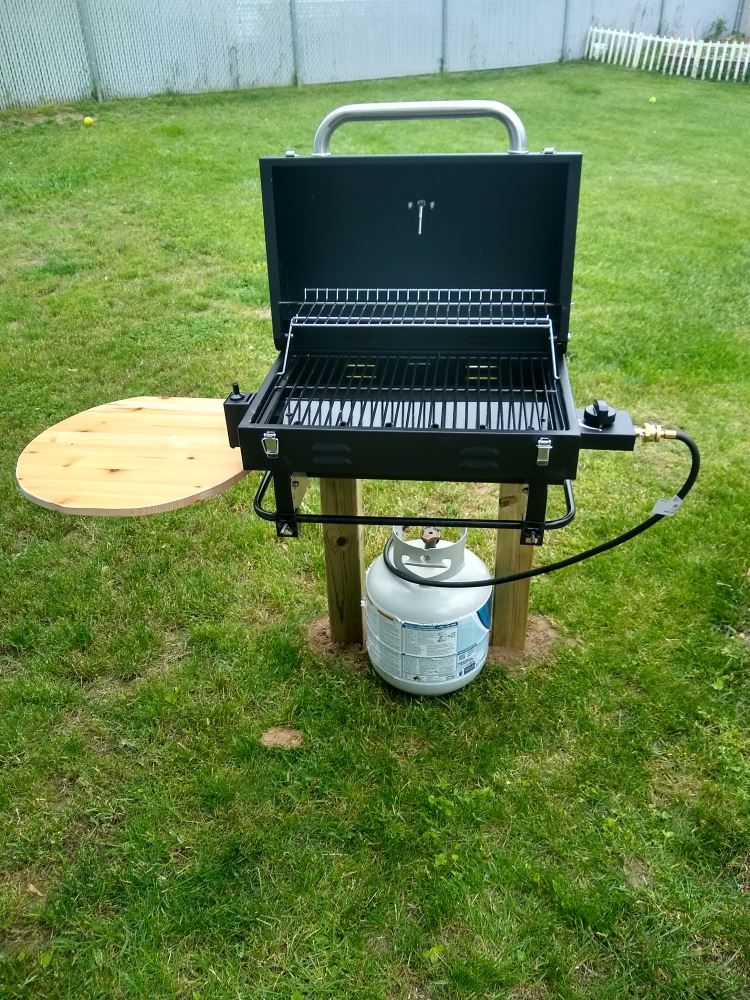 Portable Gas Grill with Carrying Bag - Black Aussie Grills