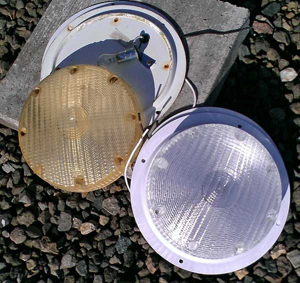 "Light Fixture For Vintage Camper: RV Scare Light With 6"" Lead, Surface Mount"