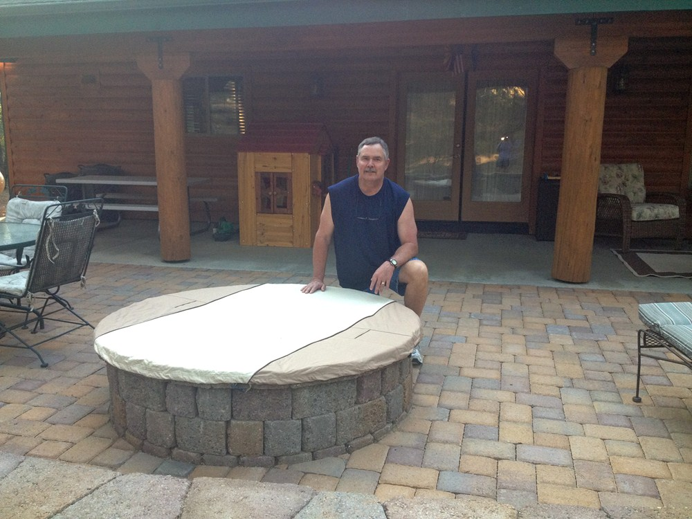 Classic Accessories Heavy Duty Round Fire Pit Cover