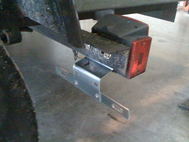 Trailer License Plate Mount Bracket Heavy Duty Zinc Steel