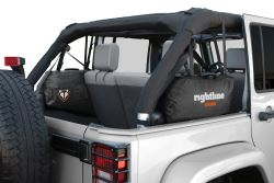 Rightline Gear Custom Side Storage Bags - Jeep Wrangler Unlimited - Water-Resistant - Black - Qty 2 - RL100J75-B