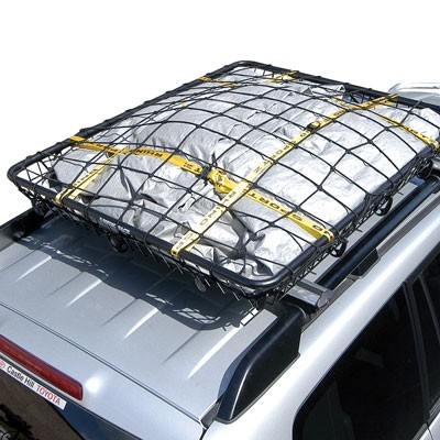 Stretchable Net And Tie Down Straps For Rhino Rack Roof