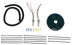 Roadmaster Tail Light Wiring Kit for Towed Vehicles - LED Bulb and Socket - Red