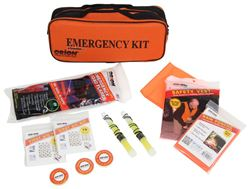 Orion Roadside Emergency Kit with Flares and First Aid Kit - 50 Pieces
