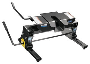 reese fifth wheel double pivot 15 - 18 inch tall 5th trailer hitch w/ square tube slider dual jaw 16 000 lbs