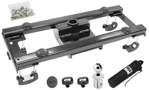 Fifth Wheel To Gooseneck Hitch >> Reese Elite Series Underbed Gooseneck Trailer Hitch w/ Rails and Installation Kit - 25,000 lbs ...