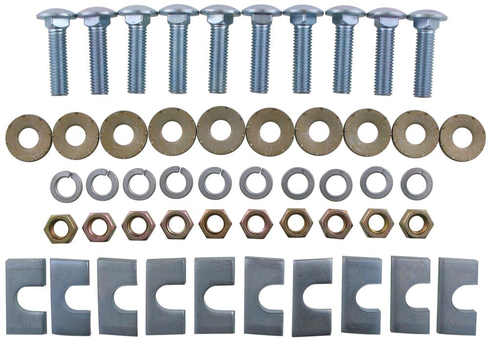 Replacement Hardware Kit for Fifth Wheel Base Rails - 10 Bolt Hardware RP58430