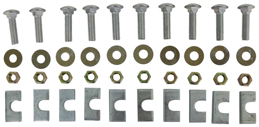 Replacement Hardware Kit for Reese 5th Wheel Base Rails - 10 Bolt Hardware Kit RP58504