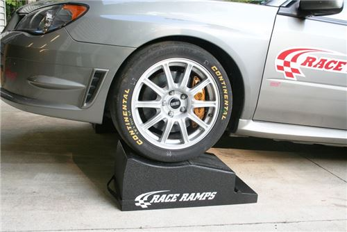 Race Ramps combo ramps feature a wheel crib section that can be used for maintenance or display