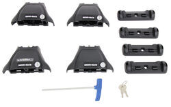 Rhino-Rack 2500 Series Legs for Vortex Aero Crossbars - Naked Roofs or Fixed Mounting Points - Qty 4