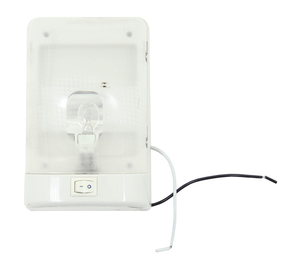 RV Euro Style Interior Single Ceiling Light With Built-In