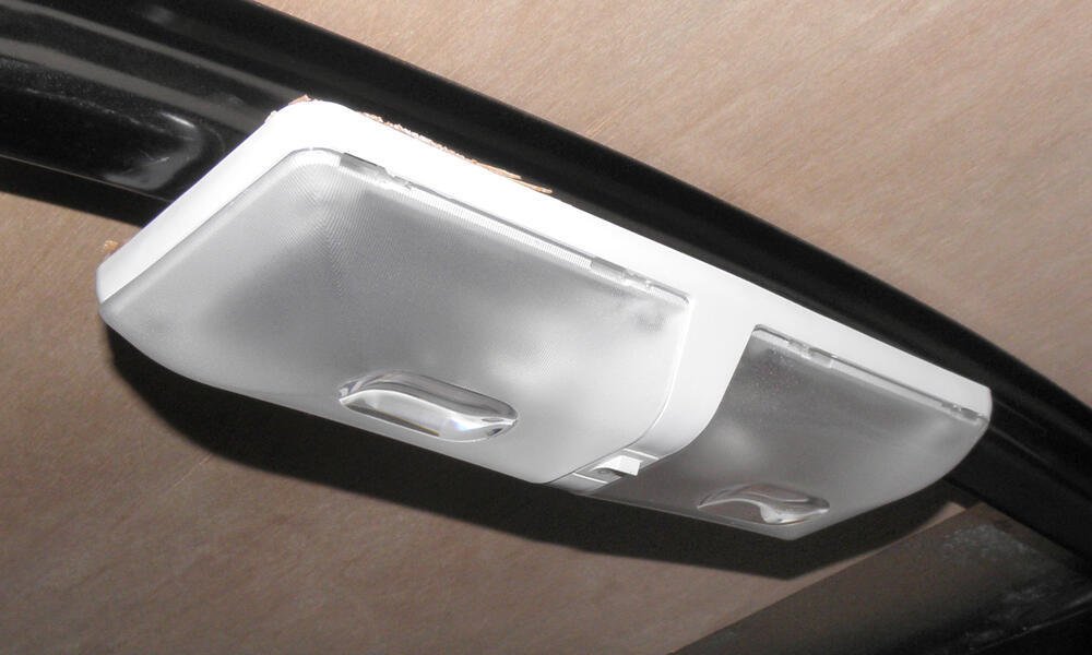 Rv Euro Style Interior Double Ceiling Light With Built In Switch Optronics Rv Lighting Rvil22
