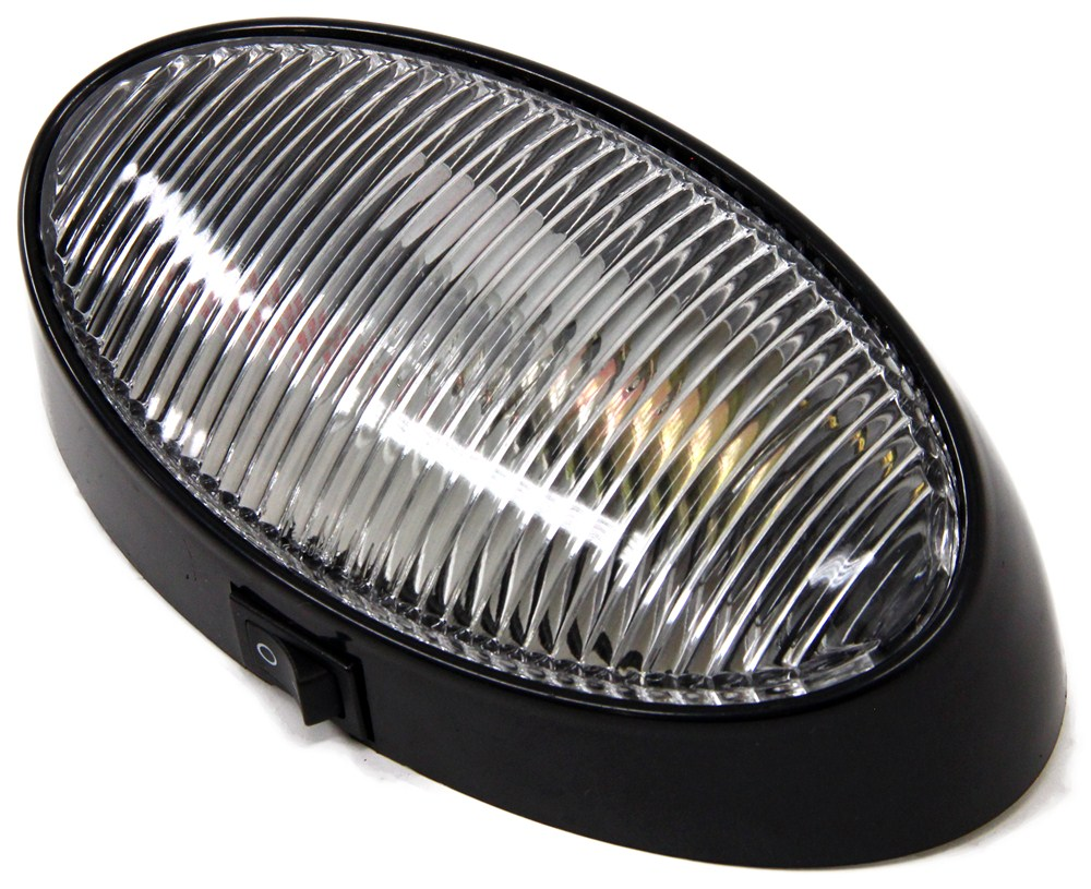 Rv Porch And Utility Light Oval Incandescent Clear