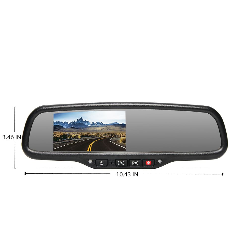 rear view safety g series backup camera system auto dimming onstar rear view safety inc. Black Bedroom Furniture Sets. Home Design Ideas