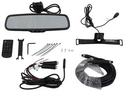 Rear View Safety Backup Camera System - Mirror Monitor - License Plate Mounted Camera