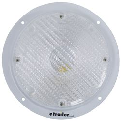 "RV Scare Light with 6"" Lead, Surface Mount - White Base"