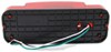 RV Tail Light - Stop, Tail, Turn - Rectangle - Red Lens - Passenger Side - Black Base Surface Mount RVSTB60