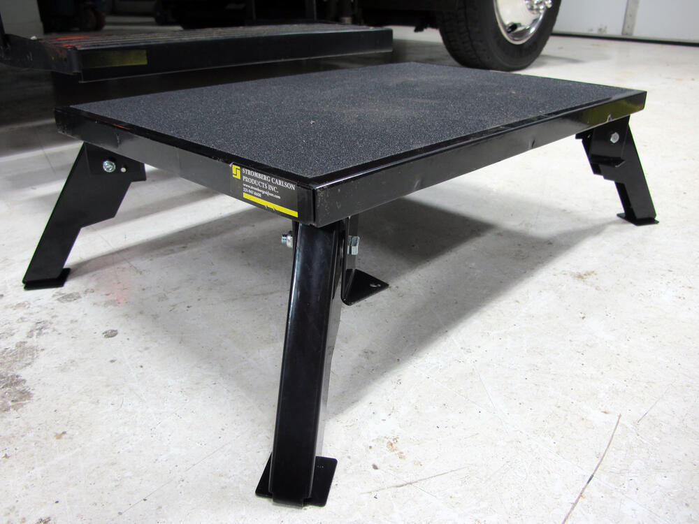 Adjustable Height Folding Platform Step Steel 24