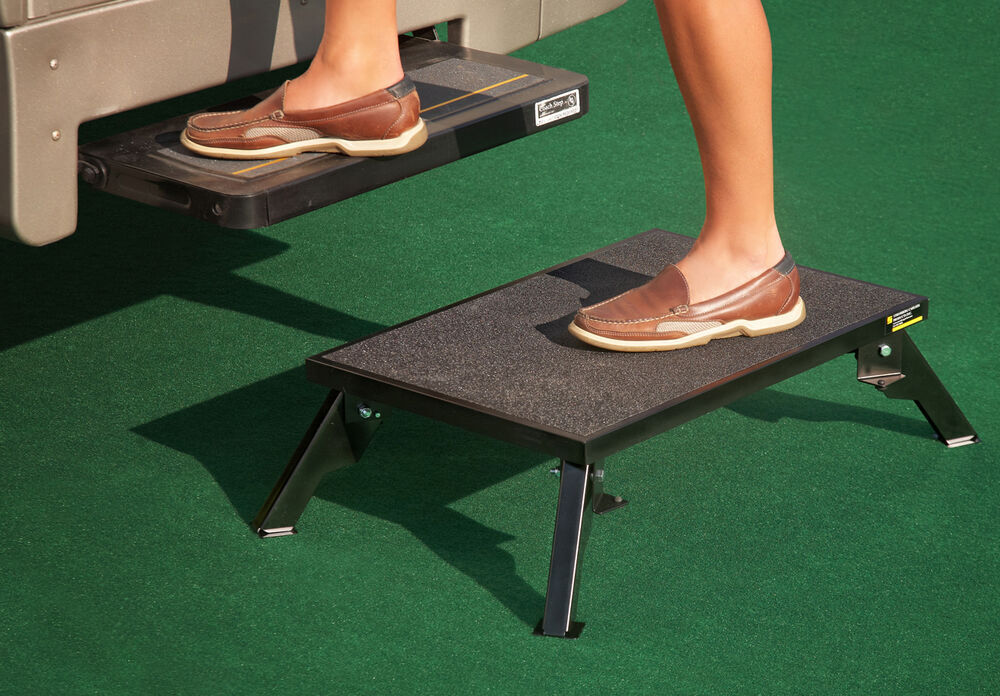 Adjustable Height Folding Platform Step Steel 24