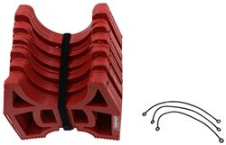 Slunky RV Sewer Hose Support System with Storage Strap - Collapsible - Red - 10' Long