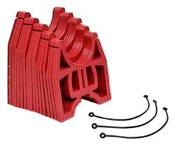 Slunky Low RV Sewer Hose Support System with Storage Strap - Collapsible - Red - 10' Long