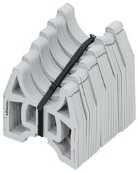 Slunky RV Sewer Hose Support System with Storage Strap - Collapsible - Gray - 15' Long