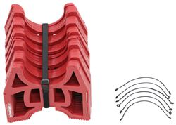 Slunky RV Sewer Hose Support System with Storage Strap - Collapsible - Red - 15' Long