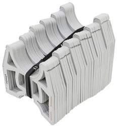 Slunky RV Sewer Hose Support System with Storage Strap - Collapsible - Gray - 20' Long