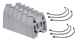 Slunky RV Sewer Hose Support System with Storage Strap - Collapsible - Gray - 25' Long