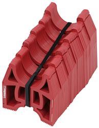 Slunky RV Sewer Hose Support System with Storage Strap - Collapsible - Red - 25' Long