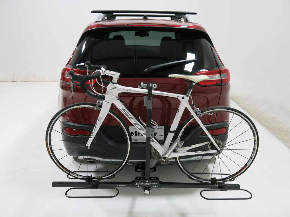 jeep cherokee swagman xc 2 bike rack platform style for 1 1 4 and 2 trailer hitches. Black Bedroom Furniture Sets. Home Design Ideas
