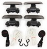 swagman watersport carriers aero bars factory round square elliptical clamp on coronado rooftop kayak carrier system with tie-downs - saddle style universal mount