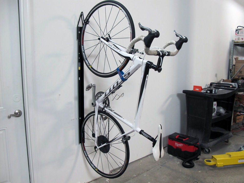 Saris Bike Trac Vertical Bike Storage Rack - Wall Mount - 1 Bike 1 Bike SA6003T & Compare Gear Up Solo Vertical vs Saris Bike Trac | etrailer.com