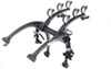 Saris Bones 3 Bike Carrier - Adjustable Arms - Trunk Mount - Black Fits Most Factory Spoilers SA801BL