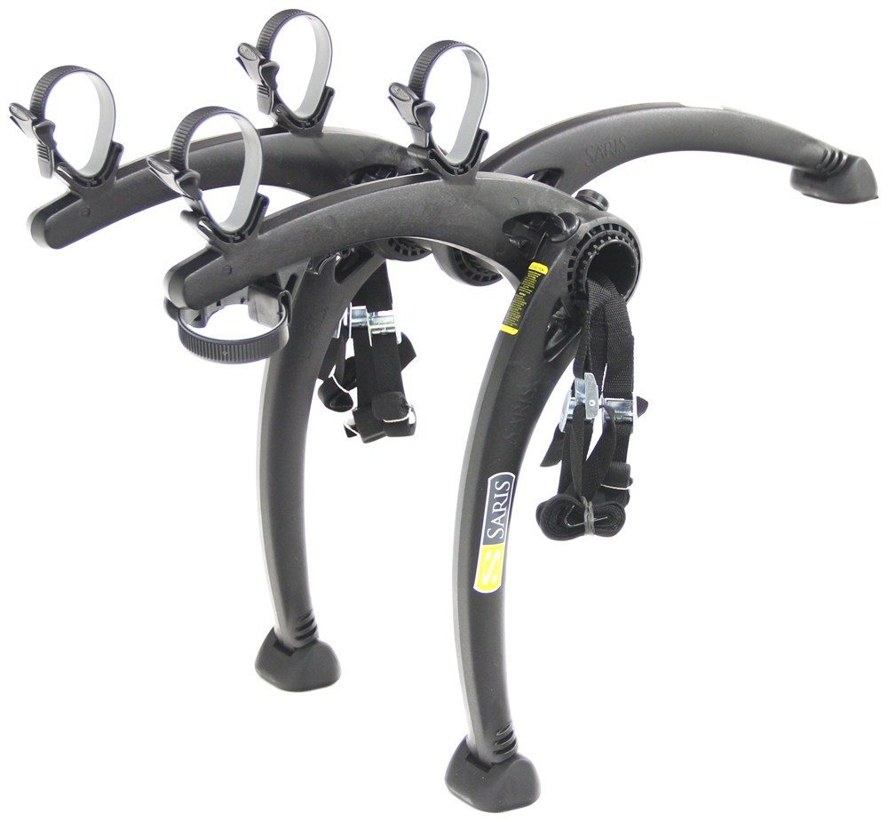 Saris Bones 2 Bike Carrier - Adjustable Arms - Trunk Mount - Black Hanging Rack SA805BL