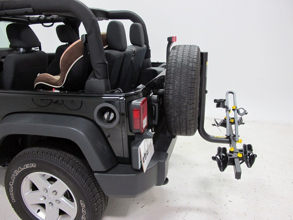 2012 Jeep Wrangler Saris Freedom 2 Bike Rack Platform