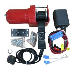 Replacement Single Speed Electric Winch w/ In-Cab Switch for SnowBear Personal and UTV Snowplows