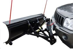 "SnowBear Personal Snowplow for 2"" Hitches - Electric Winch - 82"" Wide x 19"" Tall"
